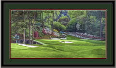 Augusta 12th Hole Golden Bell Amen Corner Panoramic Framed Golf Art