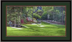 Augusta 12th Hole Golden Bell Amen Corner Panoramic Framed Golf Art