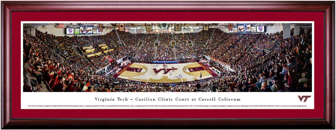 Virginia Tech Hokies Basketball Cassell Coliseum Framed Print