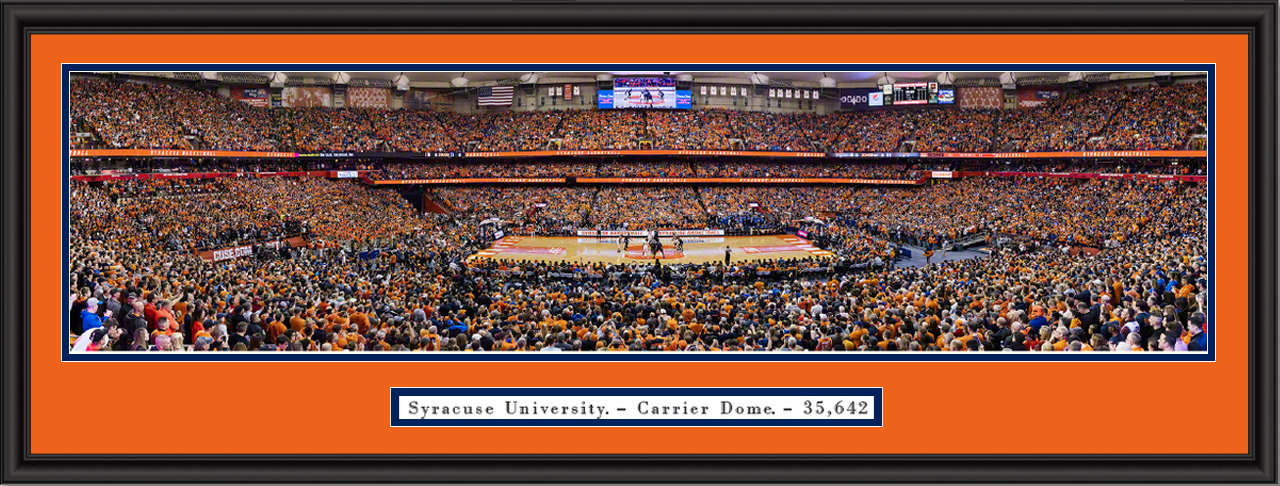 Syracuse Orange Basketball Carrier Dome Framed Panoramic Print