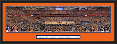 Syracuse Orange Basketball Carrier Dome Framed Panoramic Print