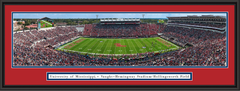 Ole Miss Rebels Mississippi Football Vaught-Hemingway Stadium Framed Panorama