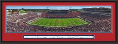 Ole Miss Rebels Mississippi Football Vaught-Hemingway Stadium Framed Panorama