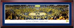 Michigan Wolverines Basketball Crisler Center Framed Print