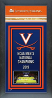 2019 Virginia Cavaliers Framed Championship Banner