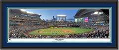 Seattle Mariners Seventh Inning at Safeco Field Framed Panoramic Double Matting