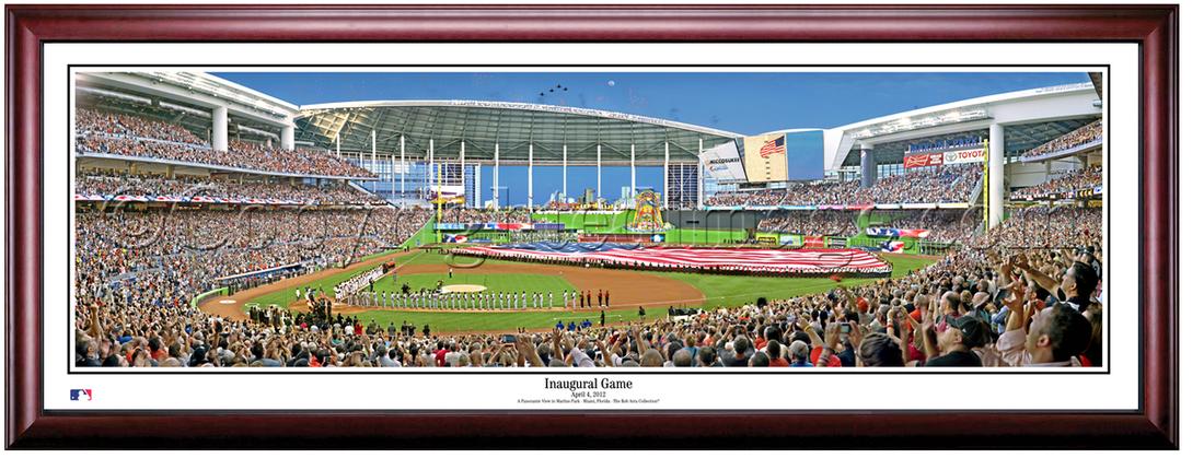 Miami Marlins Inaugural Game at Marlins Park Framed Print