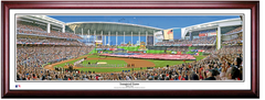 Miami Marlins Inaugural Game at Marlins Park Framed Print