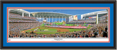 Miami Marlins Inaugural Game at Marlins Park Framed Print Double Mat Black Frame