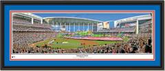 Miami Marlins Inaugural Game at Marlins Park Framed Print Double Mat Black Frame