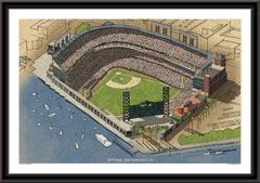 San Francisco Giants AT&T Park Framed Illustration
