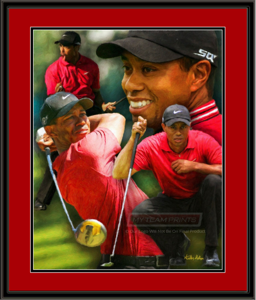 Tiger Woods Composite Framed Art