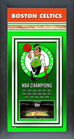 Boston Celtics Framed Championship Banner