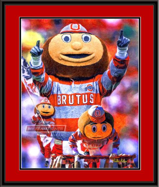 Ohio State Brutus Composite Framed Art