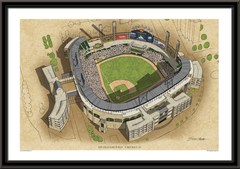 Chicago White Sox US Cellular Field Framed Illustration