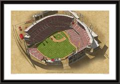 Cincinnati Reds Great American Ballpark Framed Illustration