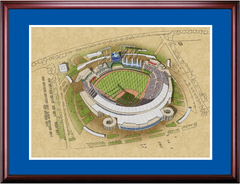 Kansas City Royals Kauffman Stadium Framed Illustration