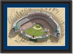 LA Dodgers Dodger Stadium Framed Illustration