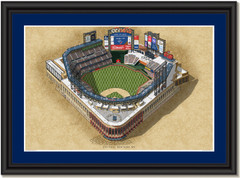 NY Mets Citi Field Framed Illustration