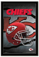 Kansas City Chiefs Team Helmet Framed Poster