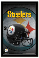 Pittsburgh Steelers Team Helmet Framed Poster