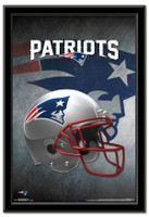 New England Patriots Team Helmet Framed Poster