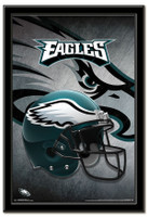 Philadelphia Eagles Team Helmet Framed Poster