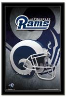 Los Angeles Rams Team Helmet Framed Poster