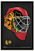 Chicago Blackhawks Team Mask Framed Poster