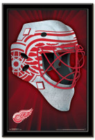 Detroit Red Wings Team Mask Framed Poster