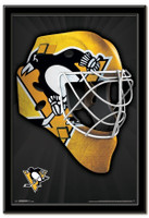 Pittsburgh Penguins Team Mask Framed Poster