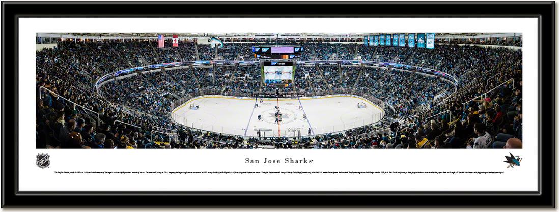 San Jose Sharks SAP Center Framed Panoramic Print