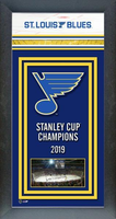 St. Louis Blues Framed 2019 Championship Banner