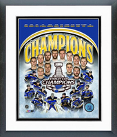 St. Louis Blues 2019 Stanley Cup Champs Framed Composition