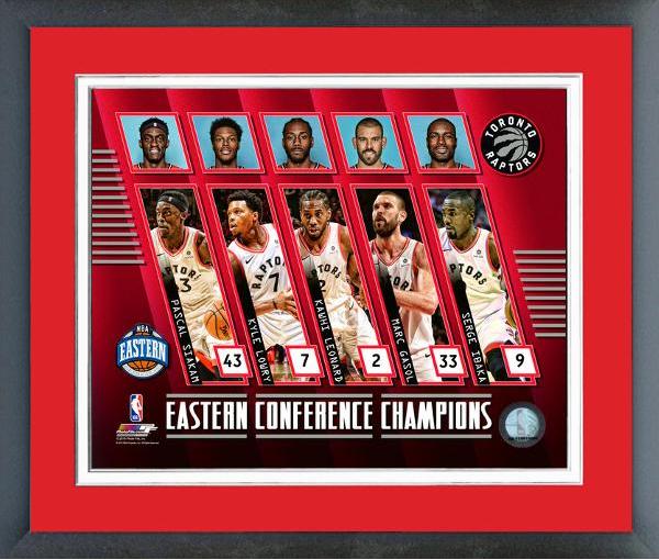 Toronto Raptors NBA Eastern Conference Champs Framed Print