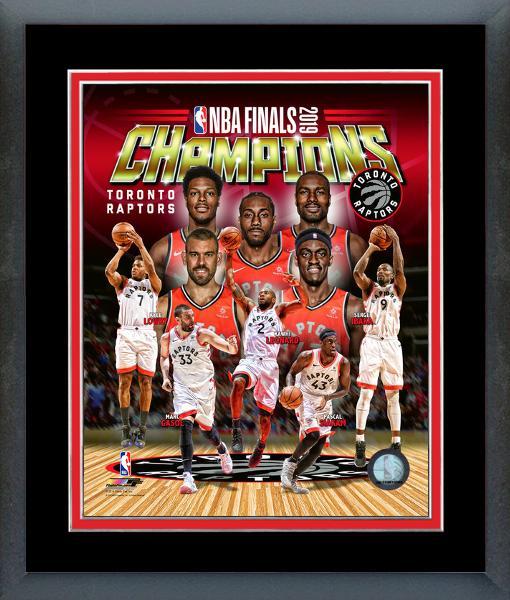 Toronto Raptors 2019 NBA Champs Framed Composite Print