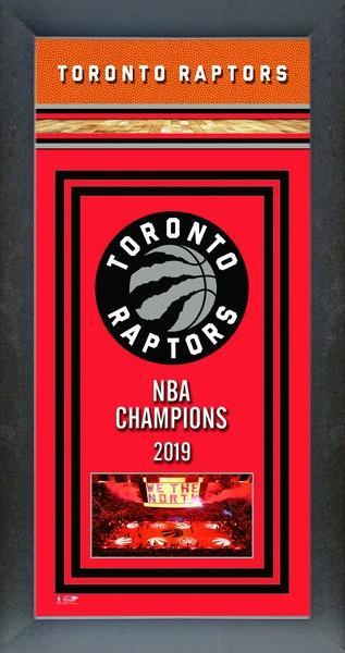 Toronto Raptors Framed 2019 Championship Banner