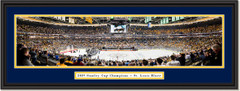 2019 Stanley Cup Champs - St. Louis Blues - Framed Panoramic Print