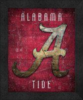 Alabama Retro Logo Map