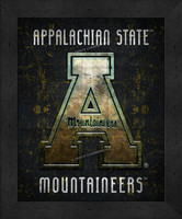 Appalachian State Retro Logo Map