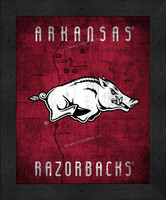 Arkansas Retro Logo Map