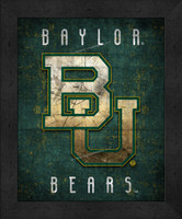 Baylor Retro Logo Map