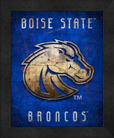 Boise State Retro Logo Map