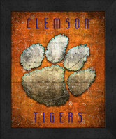 Clemson Retro Logo Map