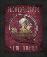 Florida State Retro Logo Map