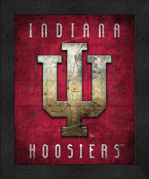 Indiana Retro Logo Map