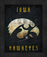 Iowa Retro Logo Map