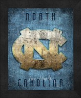 North Carolina Retro Logo Map