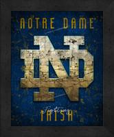 Notre Dame Retro Logo Map