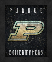 Purdue Retro Logo Map